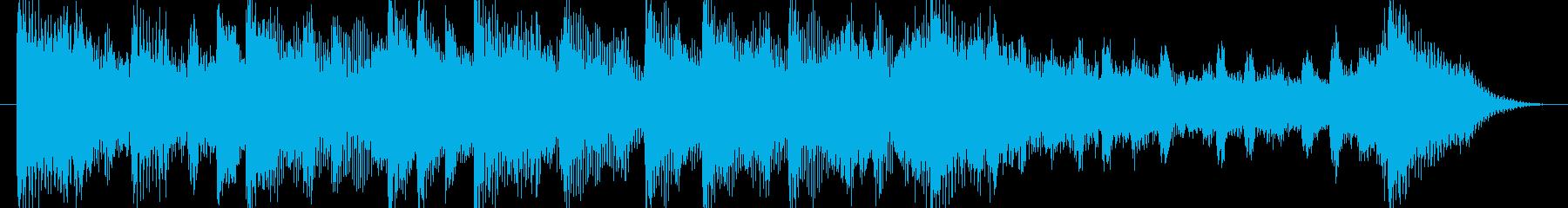 和む、でも少しクールなBGM-15秒の再生済みの波形