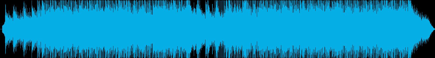 大胆なムードのエキサイティングな音楽の再生済みの波形