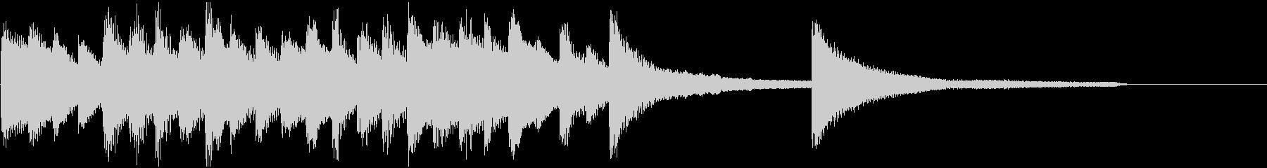 重厚なピアノソロジングルの未再生の波形