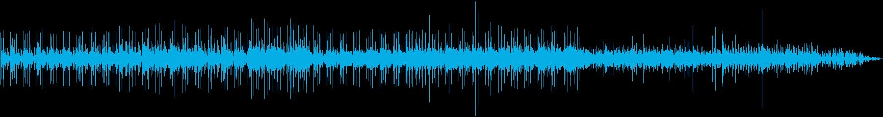 ドラム&シンセベースのミニマルテクノの再生済みの波形