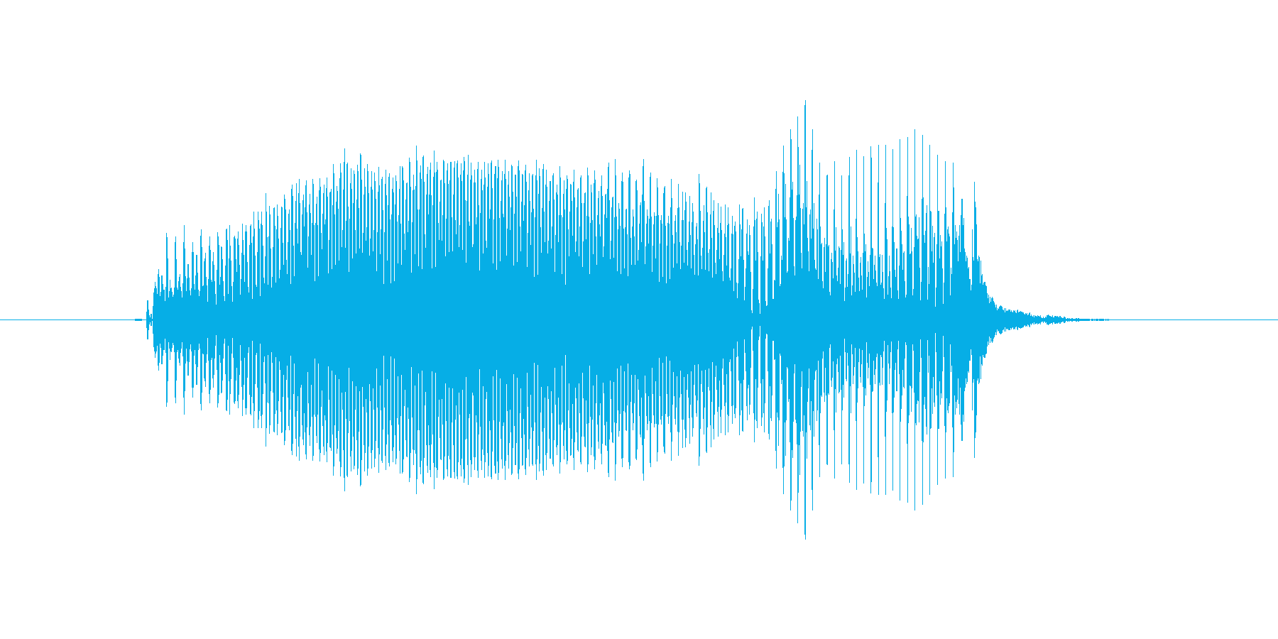 いいえの再生済みの波形