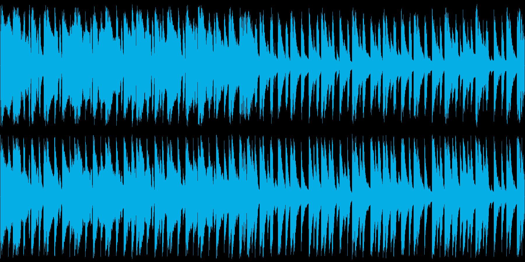 ほのぼのとした田舎の日常系BGMの再生済みの波形