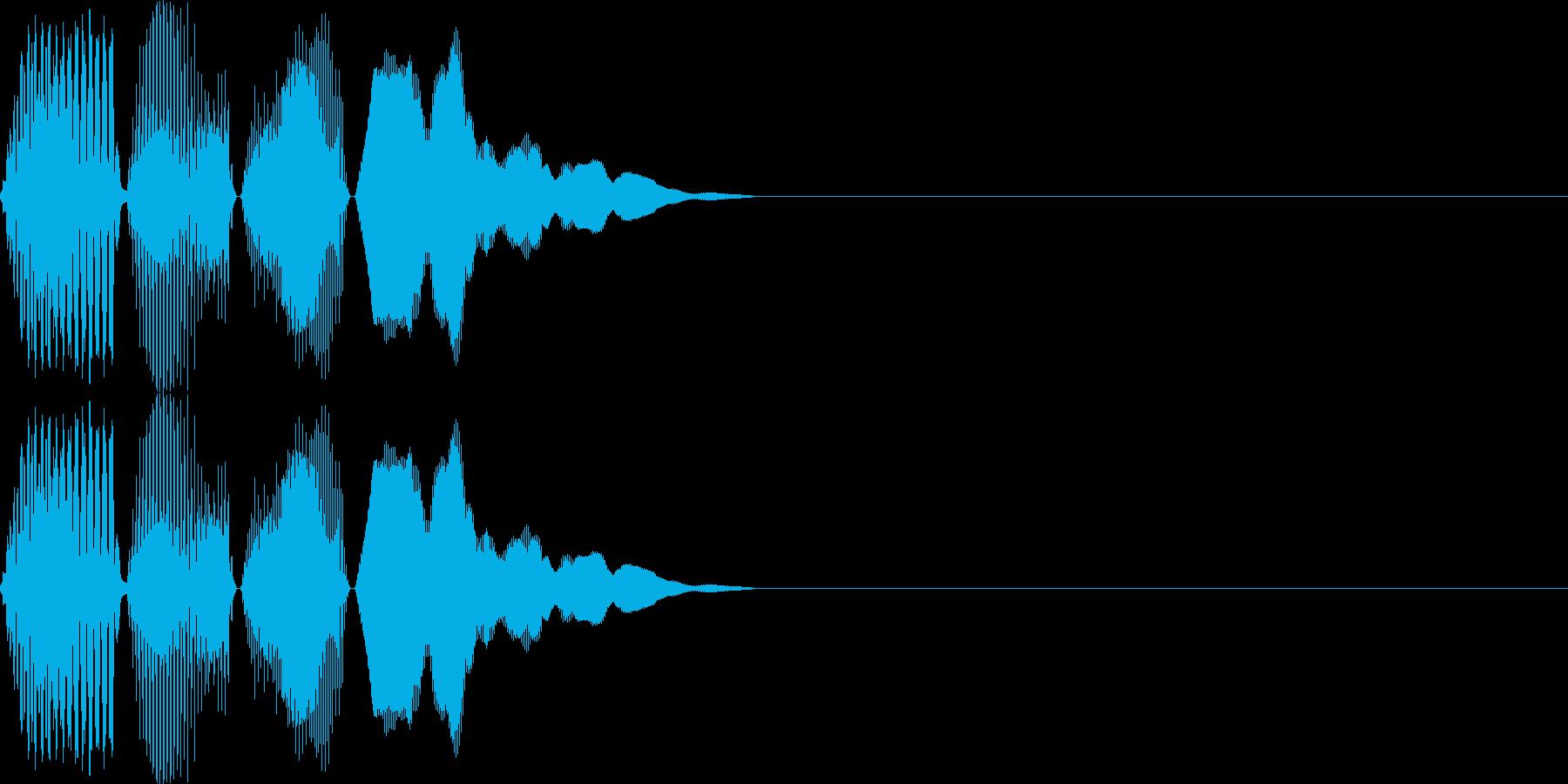 ポコン(click_031_ボタン)の再生済みの波形