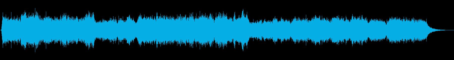 マッシブなシンセストリングスのジングルの再生済みの波形