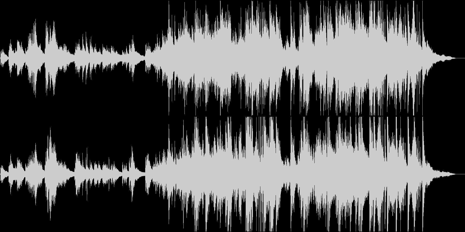 生演奏 しっとりと感動的なピアノソロの未再生の波形