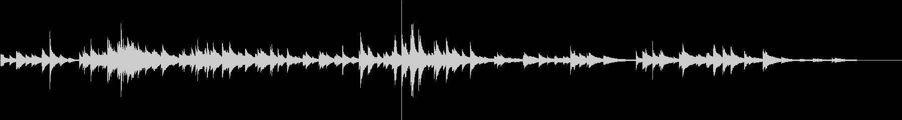 シャララーン楽器っぽい金属性の飾り物の音の未再生の波形