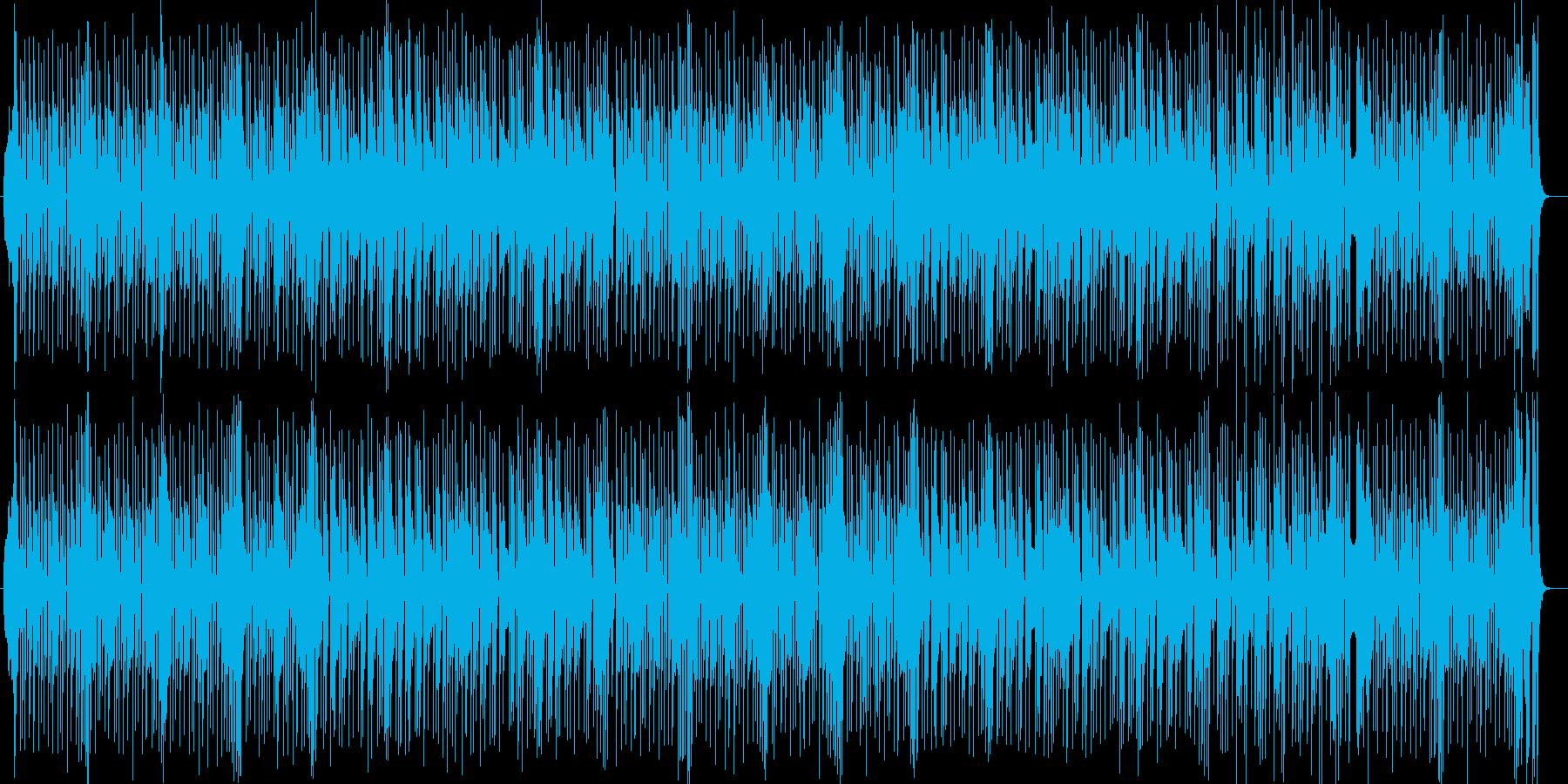 明るいシンセ・ドラムなどのサウンドの再生済みの波形
