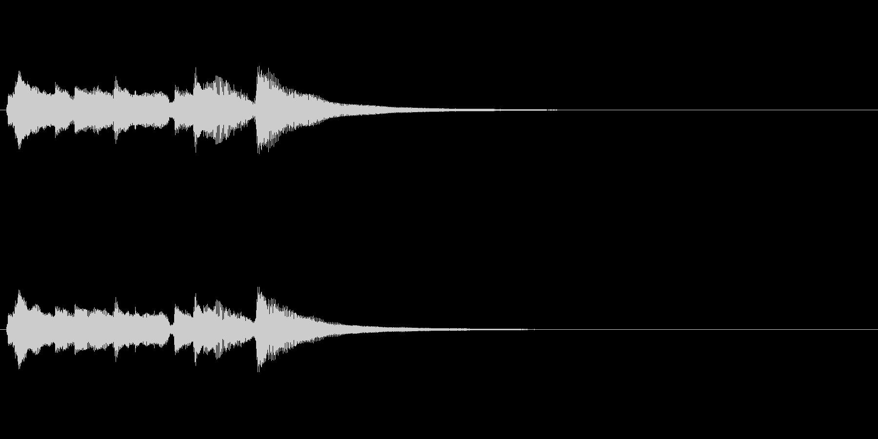 アコースティックギターによるアイキャッチの未再生の波形