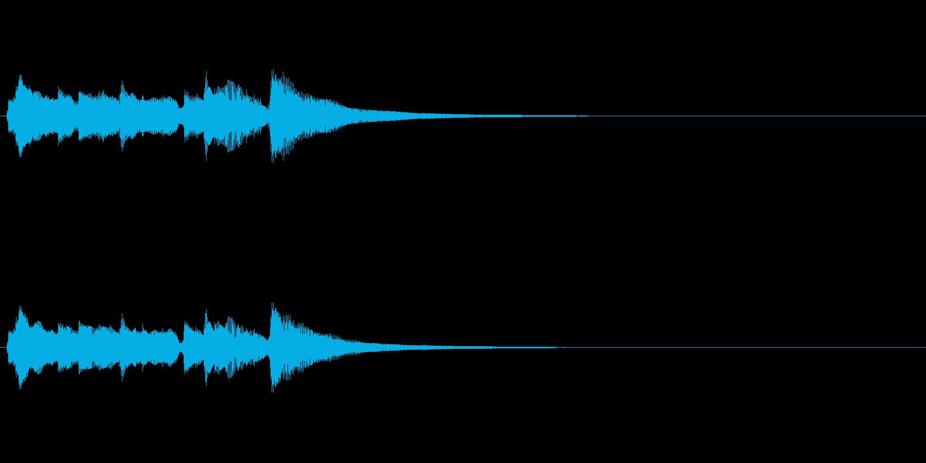 アコースティックギターによるアイキャッチの再生済みの波形
