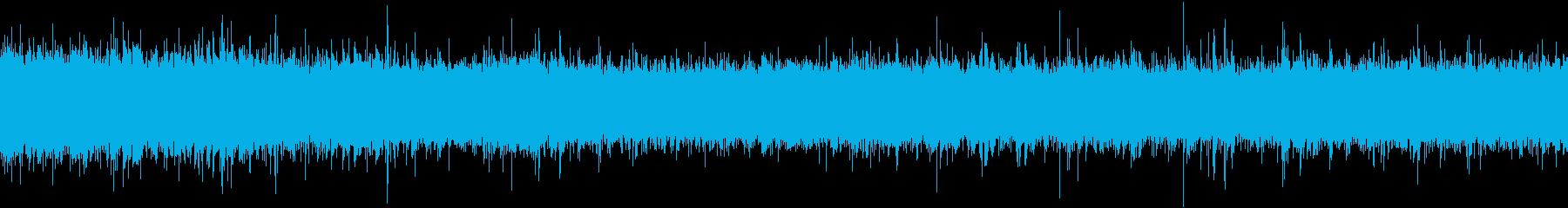 【ループ再生用】雨・土砂降り・生録の再生済みの波形