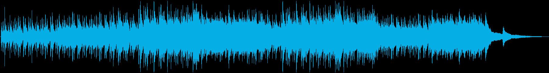 小雨が降っている感じのピアノBGMの再生済みの波形