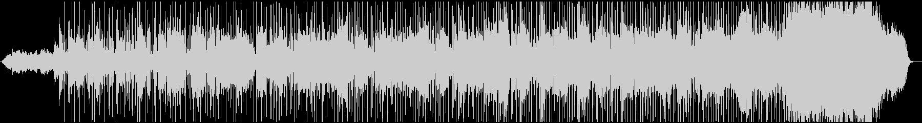 印象的なピアノのメロディとソロプレイの未再生の波形