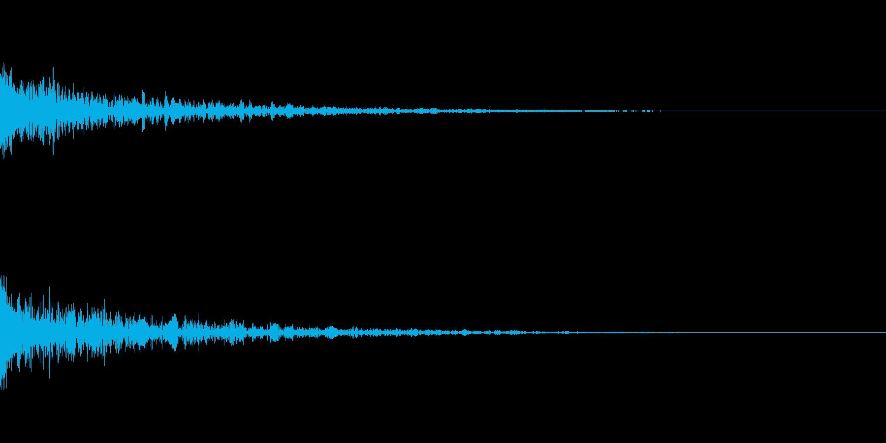 ドーン-32-1(インパクト音)の再生済みの波形