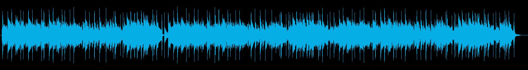 優しく安らぎのある穏やかな曲の再生済みの波形