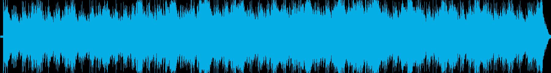緊迫感あふれるテクノの再生済みの波形