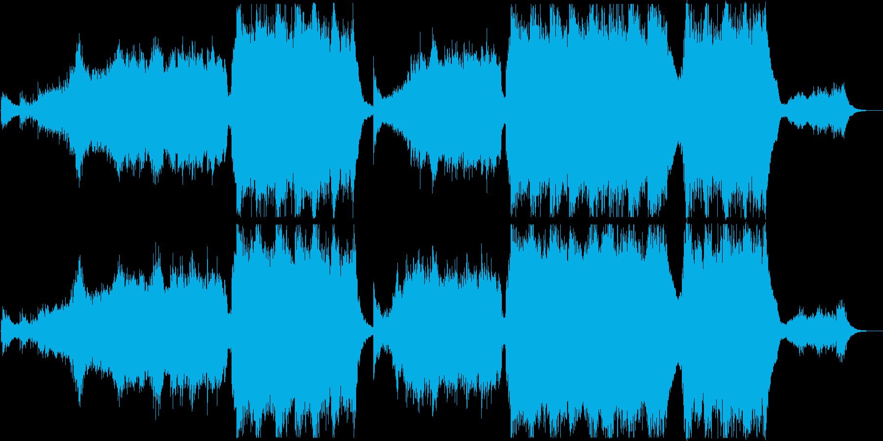 宇宙・近未来的な壮大で美しいエピック曲の再生済みの波形