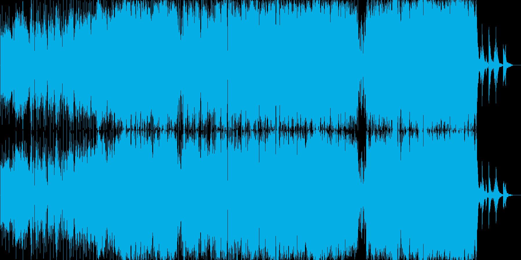 しっとりしたバラードの再生済みの波形