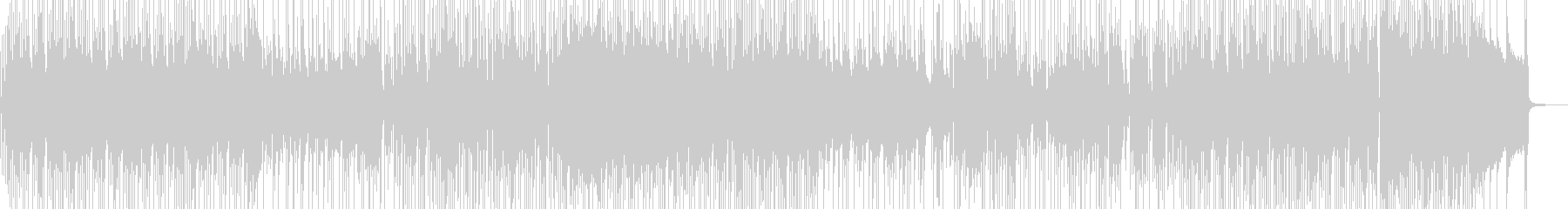 三味線・行楽・まったりジャズポップ 短尺の未再生の波形