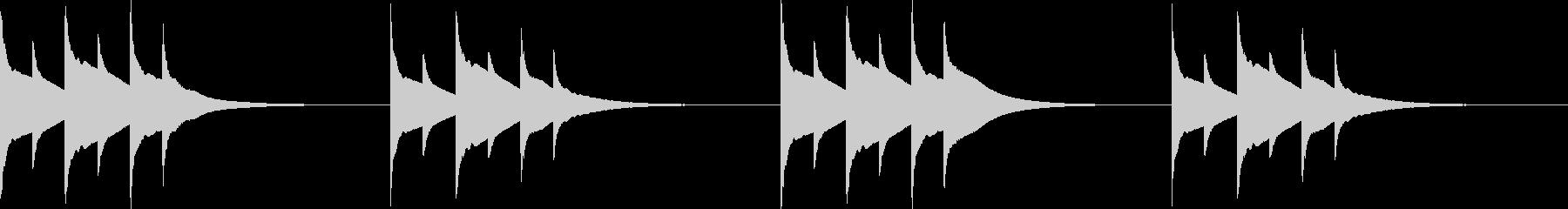ホラー クリスタルなベル音の未再生の波形