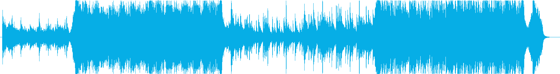 このエネルギッシュな映画のサウンドトラッの再生済みの波形