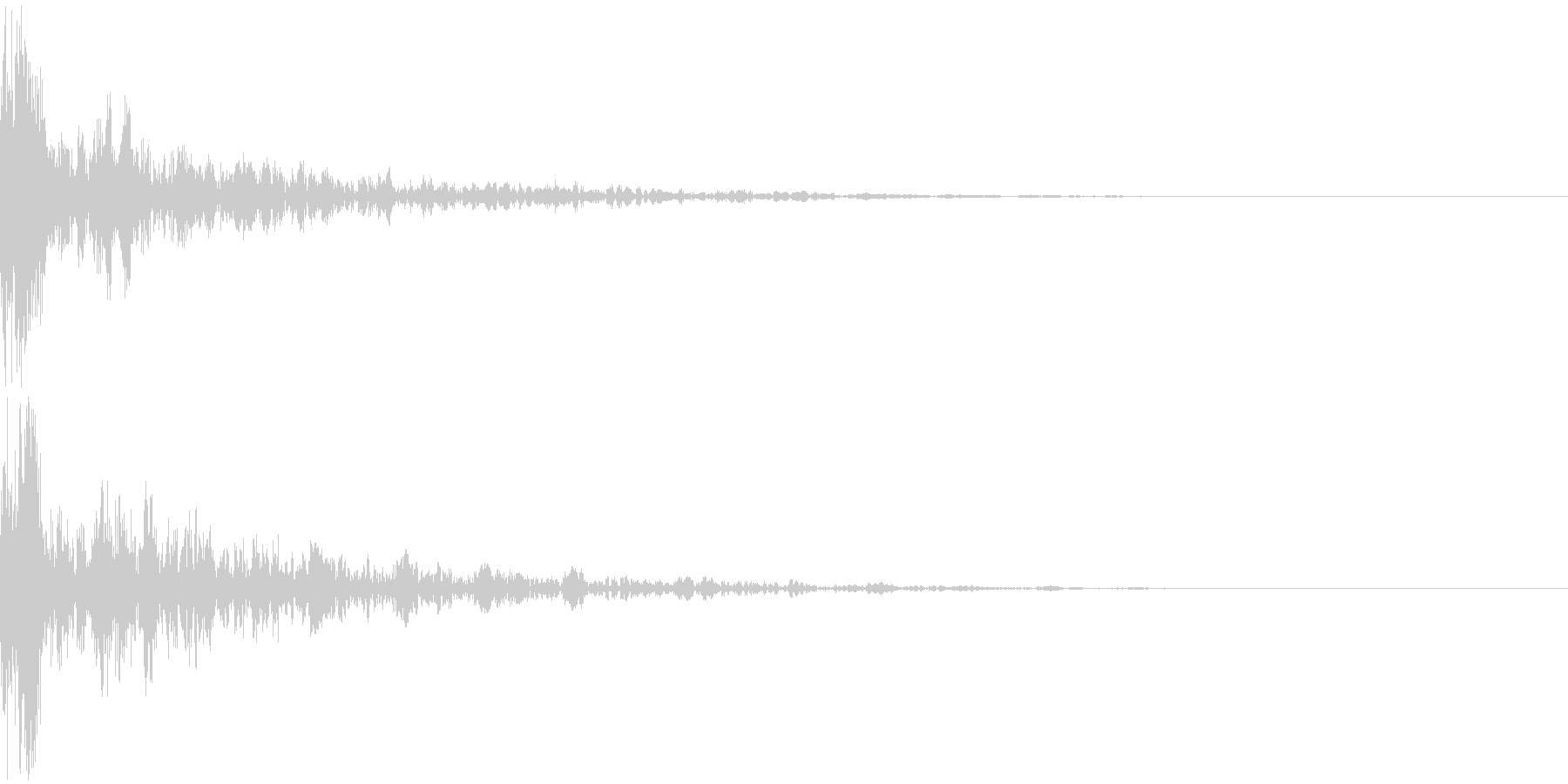 ドーン-17-2(インパクト音)の未再生の波形