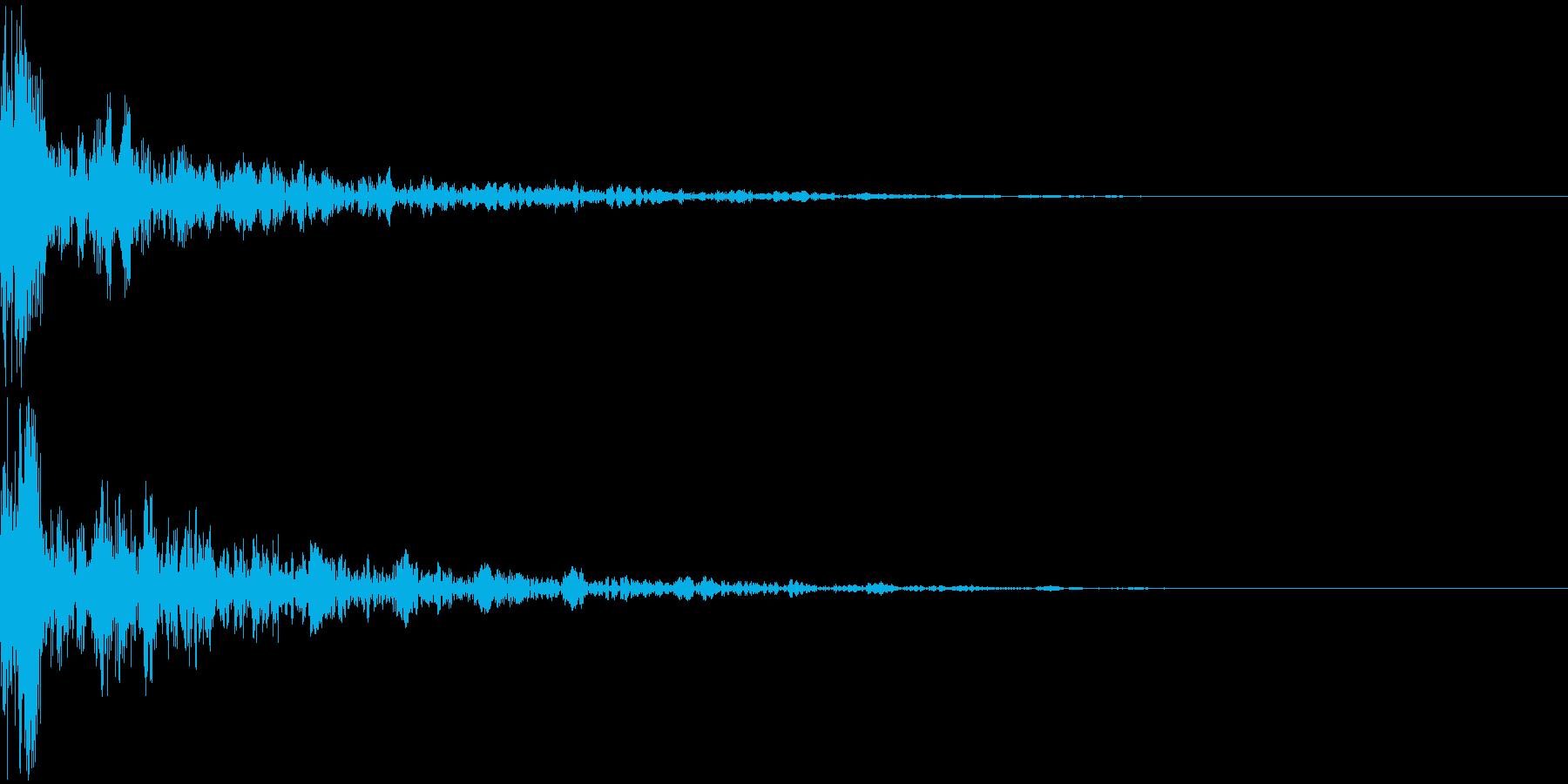 ドーン-17-2(インパクト音)の再生済みの波形
