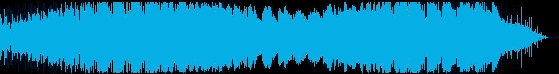 恐怖演出用インダストリアルBGMの再生済みの波形