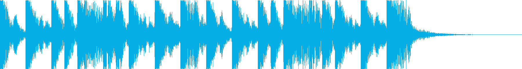 攻撃的でダークなEDM3の再生済みの波形