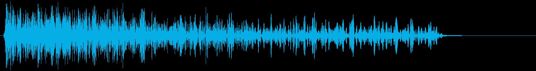 フルストップの再生済みの波形