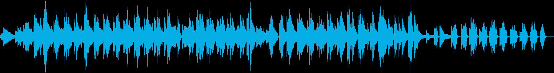 浮遊感・lo-fi のんびりピアノソロの再生済みの波形
