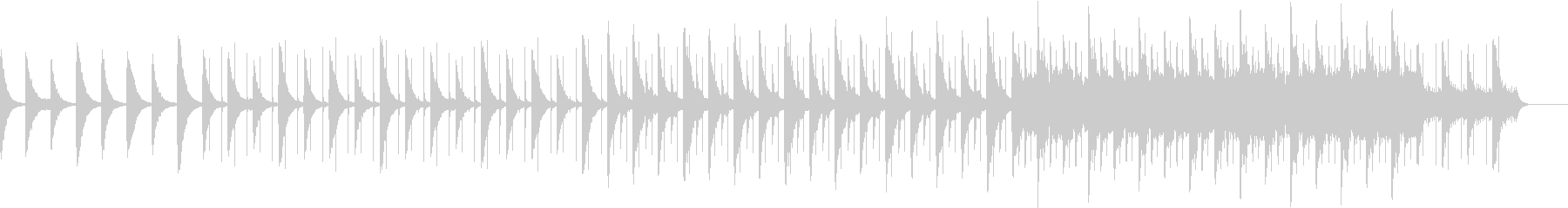 静かなピアノ インストの未再生の波形