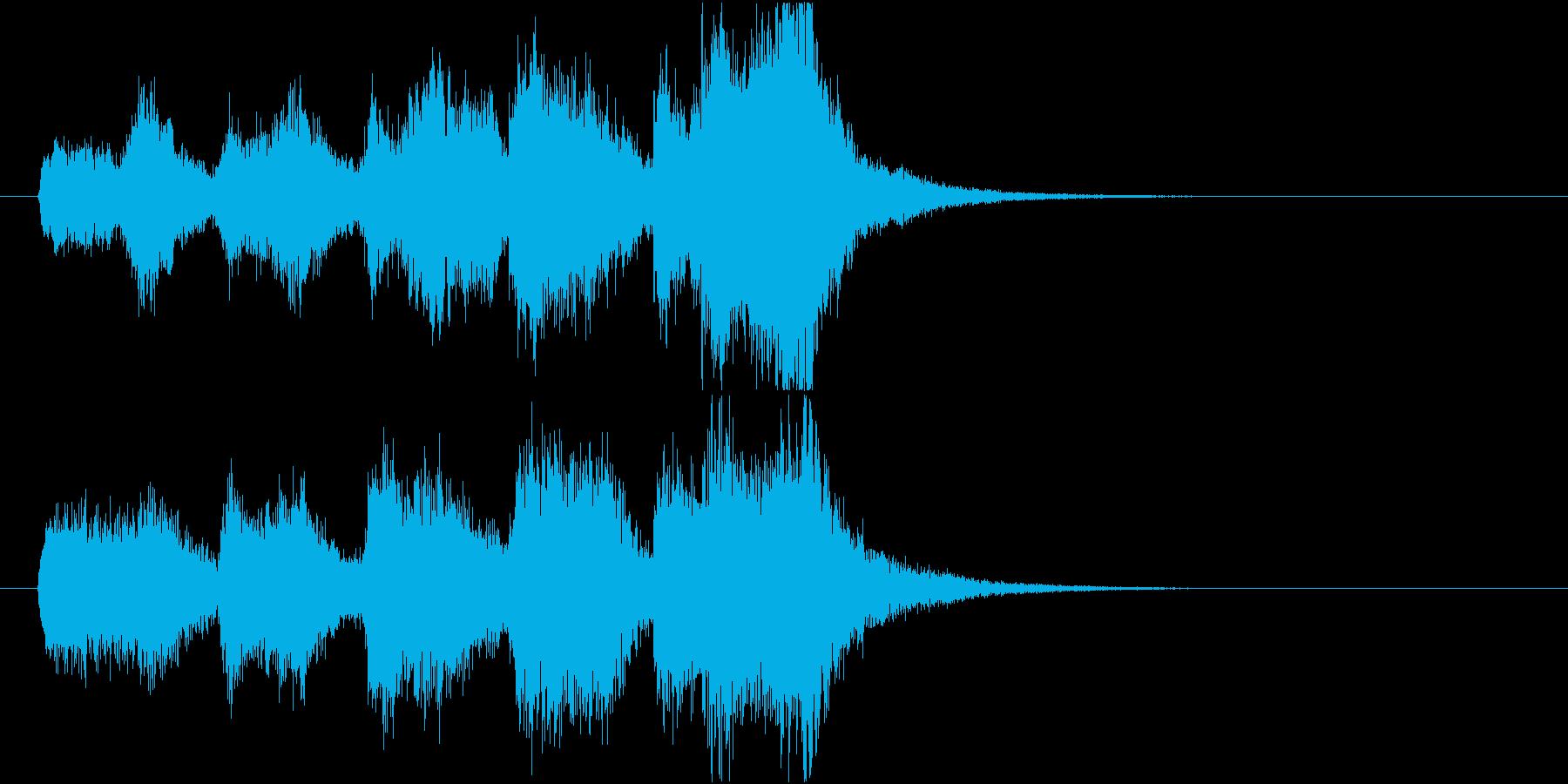 一流芸能人を格付けるファンファーレBの再生済みの波形