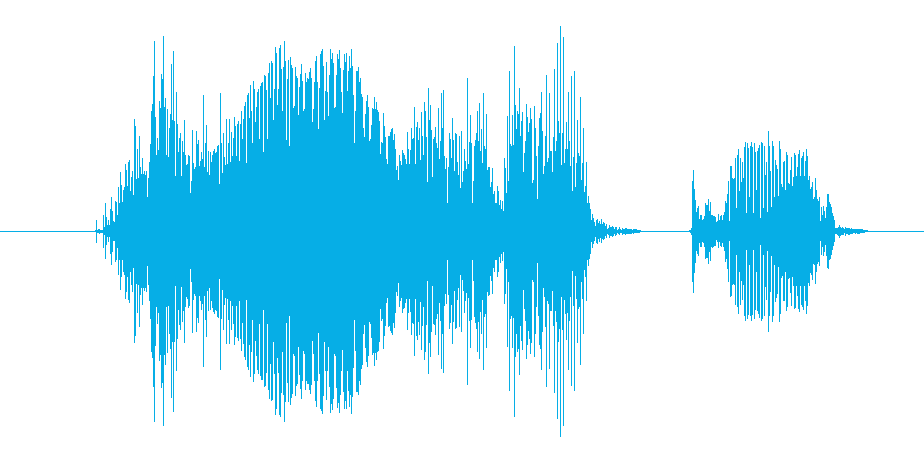 小さくの再生済みの波形