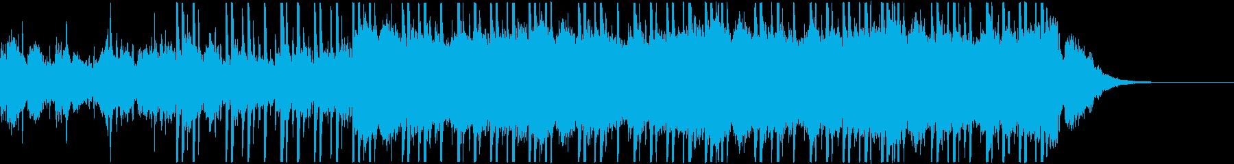 ボーカルシンセのカッコいい近未来的BGMの再生済みの波形