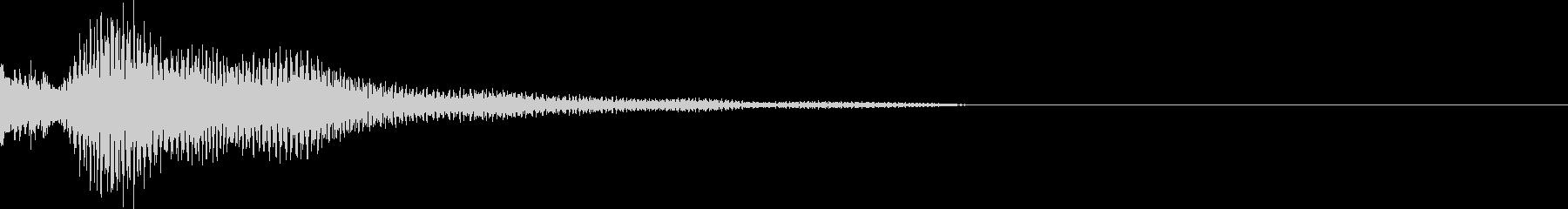 電子音 8の未再生の波形