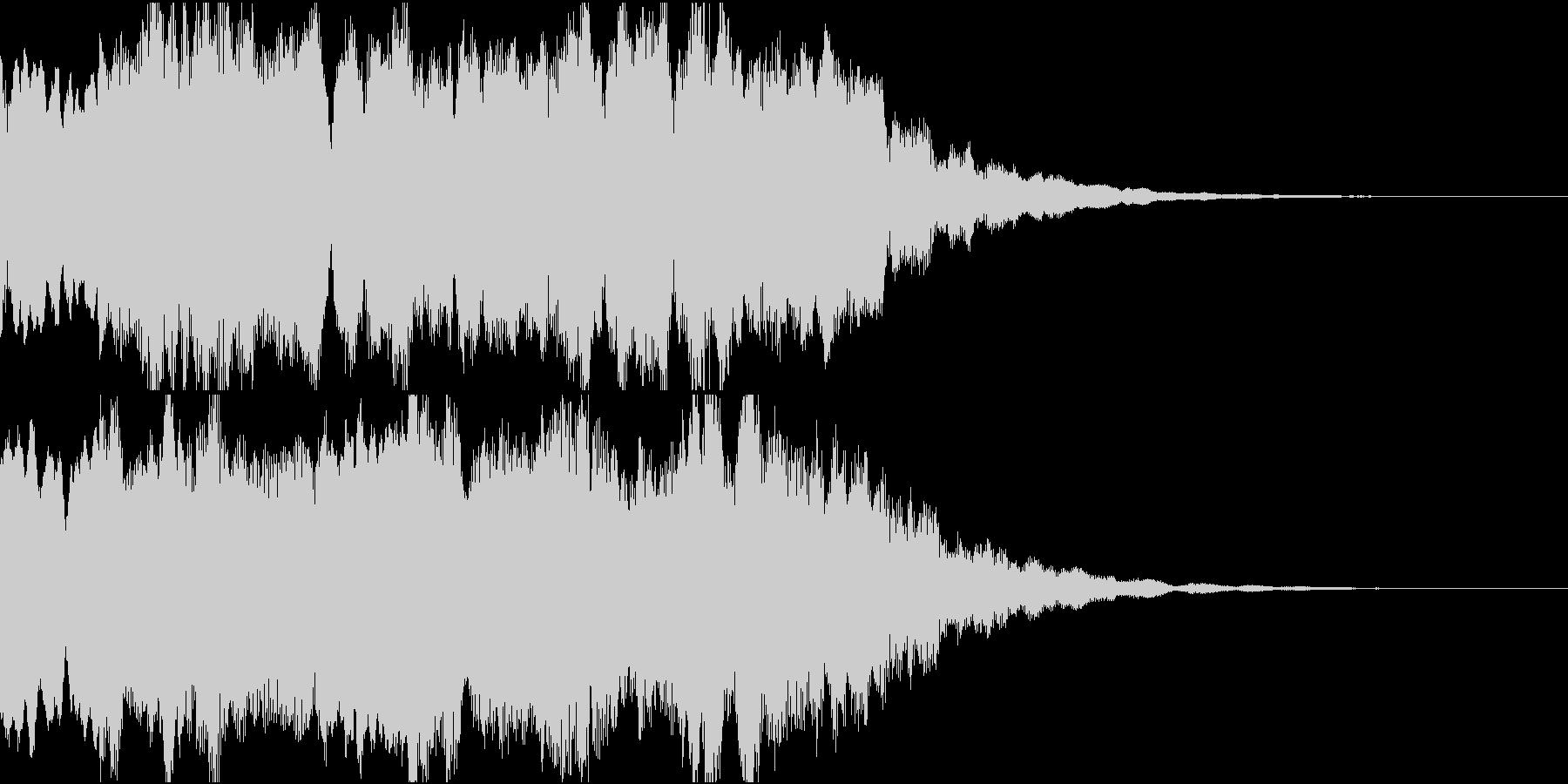 和風サウンドロゴ・ジングル/琴/笛の未再生の波形