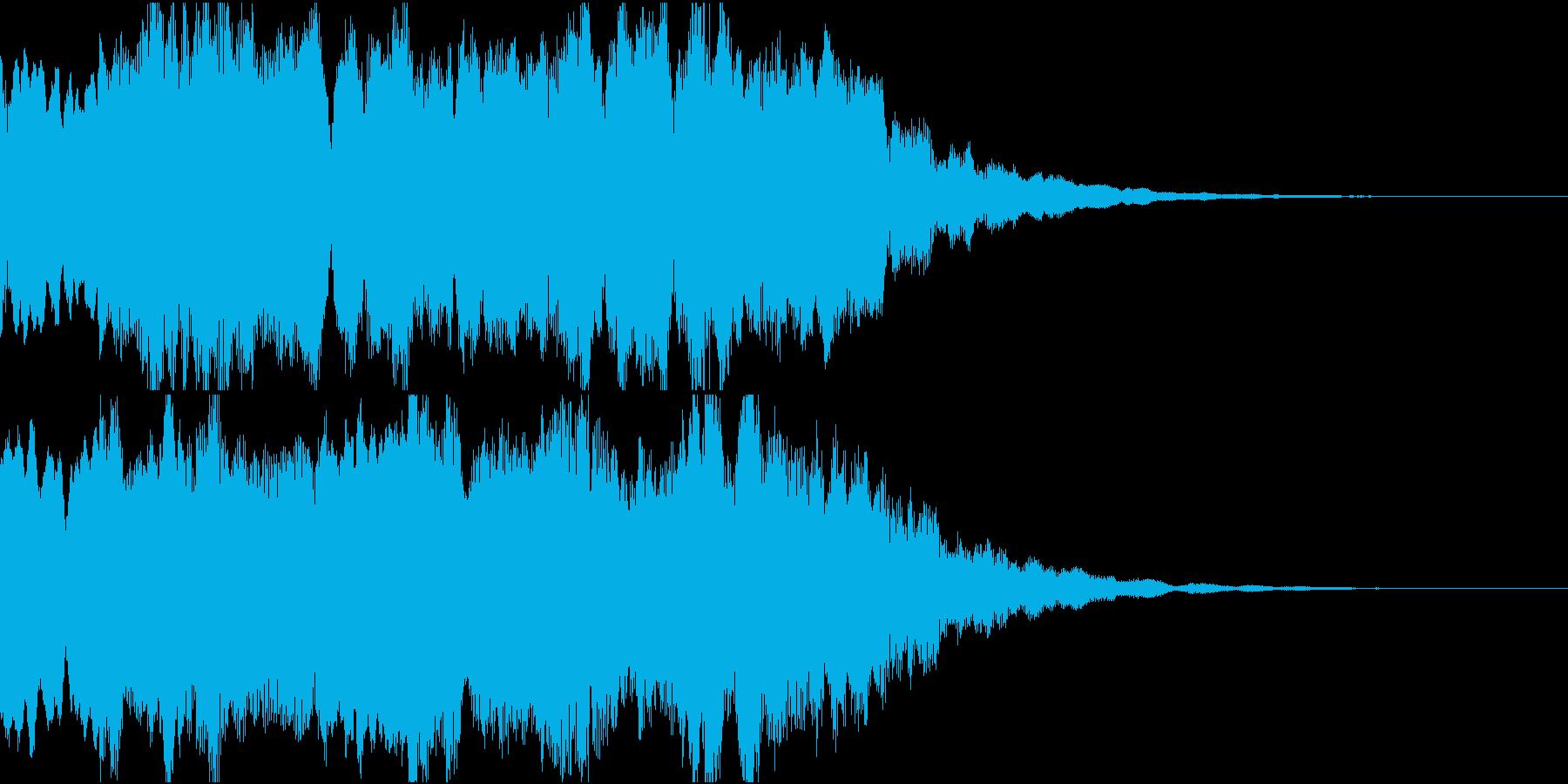 和風サウンドロゴ・ジングル/琴/笛の再生済みの波形
