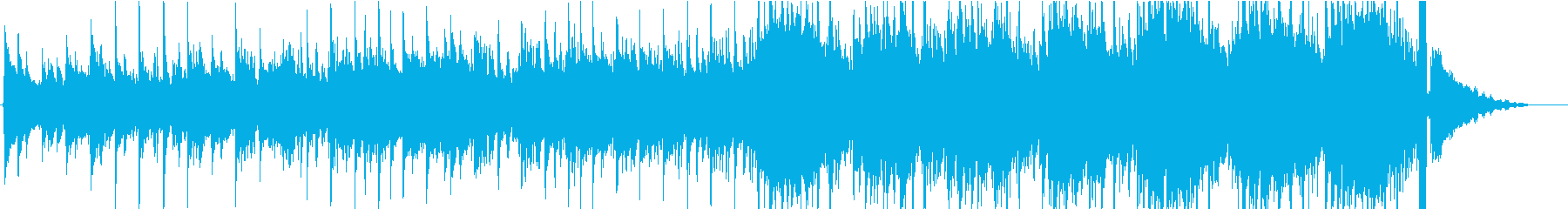アコギメイン、トンネルを抜け出すイメージの再生済みの波形