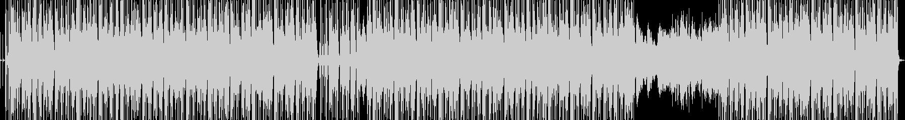 ゆったりほのぼのしたファンクBGMの未再生の波形