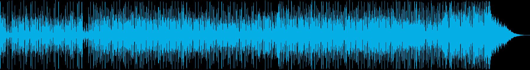近未来的な疾走感あるテクノポップの再生済みの波形