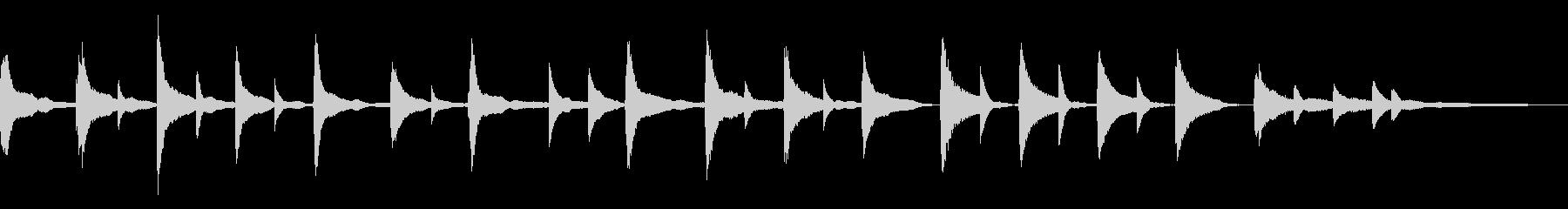 【ほのぼの系】30秒ピアノソロの未再生の波形