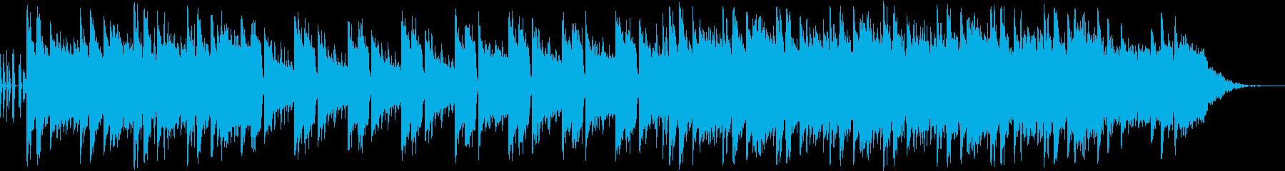 夜に溶けていくチルアウトBGMの再生済みの波形