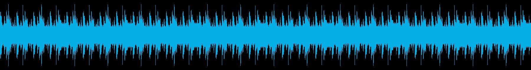 エレキベースがかっこいいロックなBGMの再生済みの波形