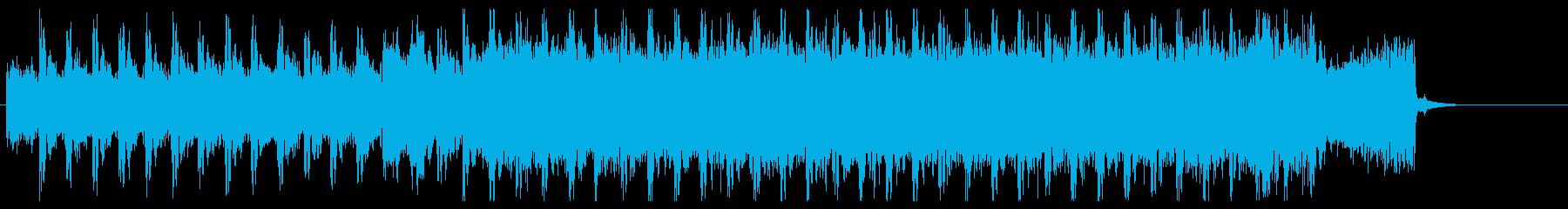 妖しい、機械的、クールなエレキのジングルの再生済みの波形