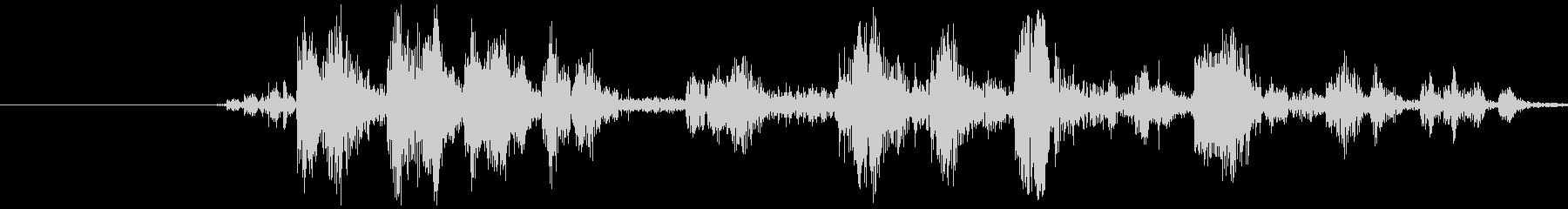 カメラ シャッター音(ノイジー)カシャの未再生の波形