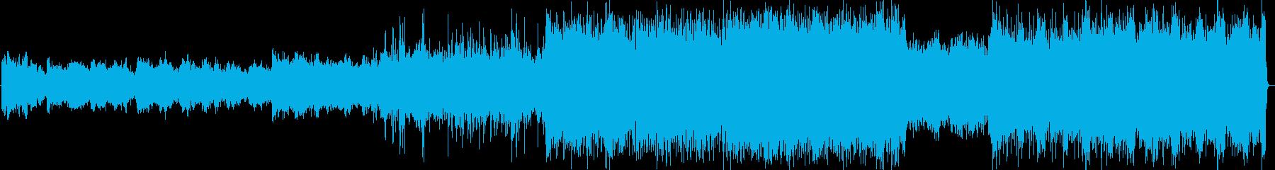 じわじわと壮大になるテクノオーケストラの再生済みの波形