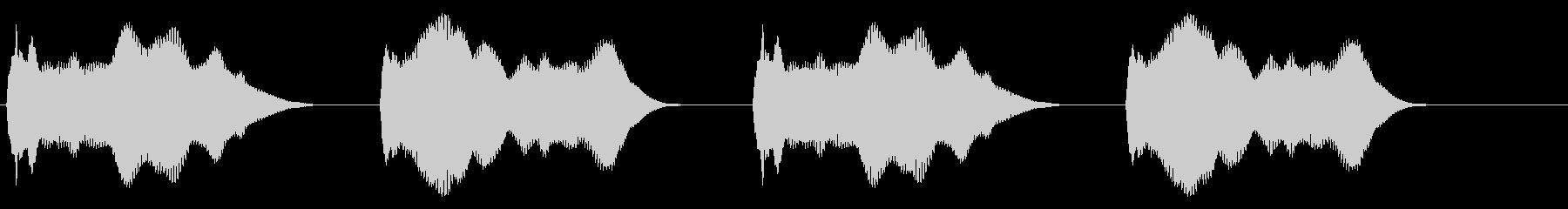 警報(立体的)の未再生の波形