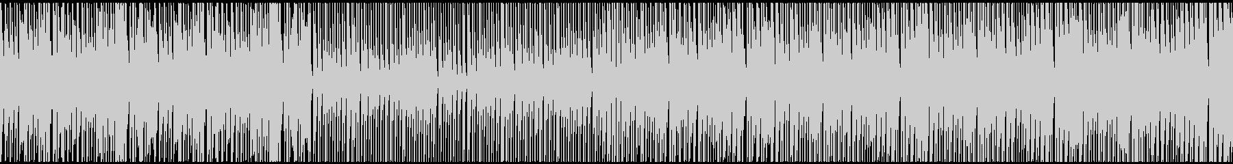 ノリの良い疾走感のあるテクノの未再生の波形