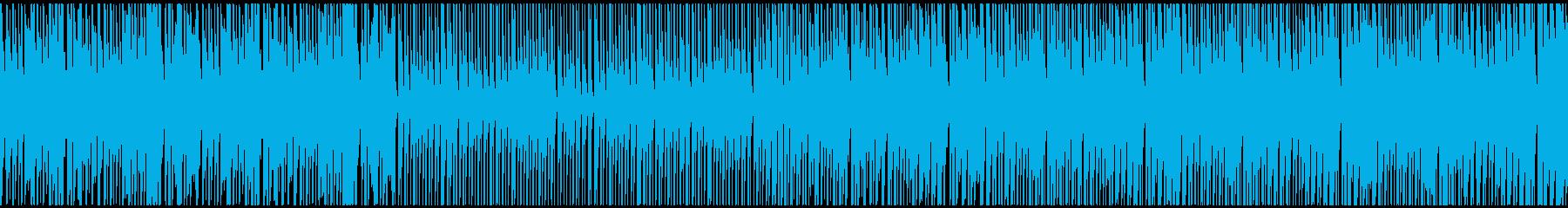 ノリの良い疾走感のあるテクノの再生済みの波形