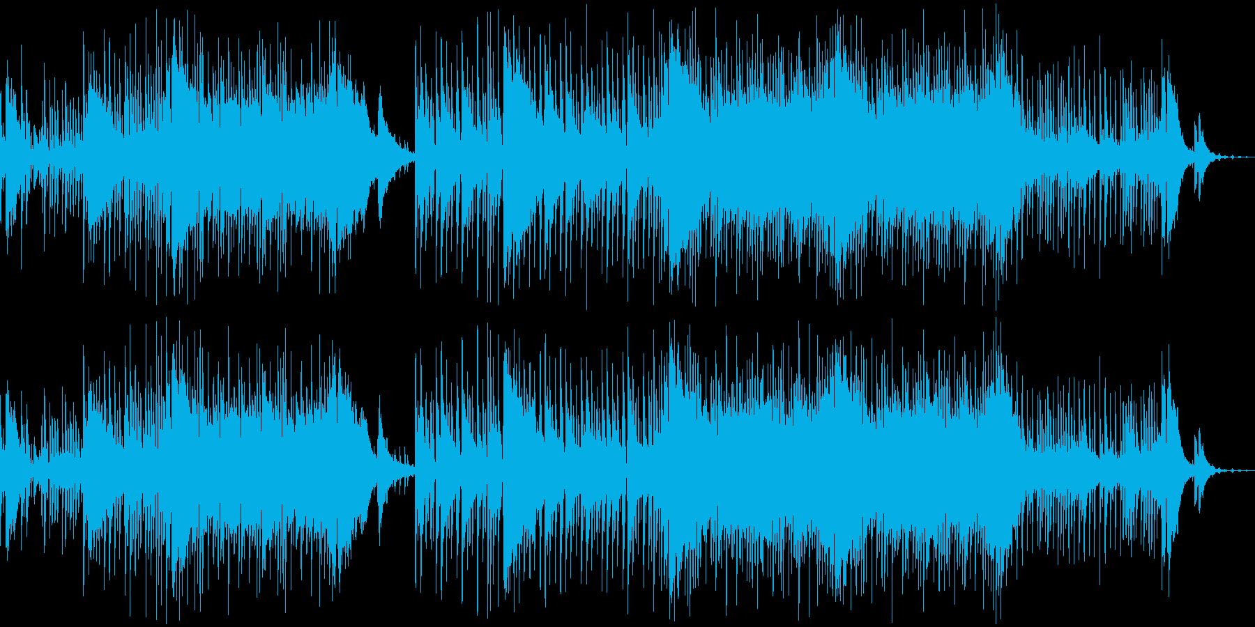 陽気で楽しい夏を演出する生演奏ウクレレ曲の再生済みの波形
